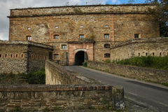 Ehrenbreitstein Fortress, Koblenz, Germany. Ehrenbreitstein Fortress is a fortress on the mountain of the same name on the east bank of the Rhine opposite the Stock Images