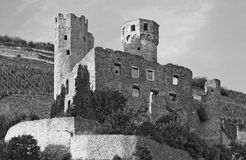 Ehrenfels Castle, Germany. On the Rhine royalty free stock photos