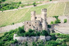 Ehrenfels Castle on the Rhine in Hesse Germany royalty free stock images