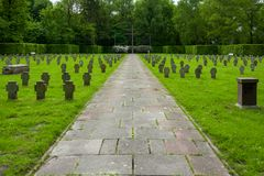 Ehrenfriedhof在威廉港,德国 库存照片