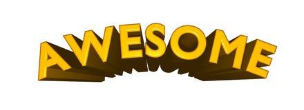 EHRFÜRCHTIGER Text 3D im Gold auf weißem Hintergrund lizenzfreie abbildung
