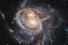 Ehrfürchtig vom Weltraum Milliarden Galaxien im Universum lizenzfreie stockfotografie