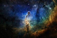 Ehrfürchtig vom Weltraum Milliarden Galaxien im Universum stockfoto