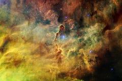 Ehrfürchtig vom Weltraum Milliarden Galaxien im Universum stockbild