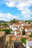 """Ehrfürchtige Ansicht über alte Stadt von à """"bidos, Portugal Lizenzfreie Stockfotografie"""