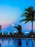 Ehrfürchtige Ansicht von Cancun stockbild