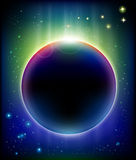 Ehrfürchtige Eklipse stock abbildung