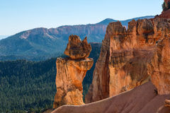 Ehrfürchtige Felsformation in Bryce Canyon National Park Utah, USA Lizenzfreies Stockfoto