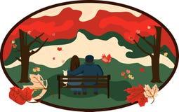 Ehrfürchtiger Herbst Stockbild