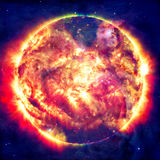 Ehrfürchtiger Hintergrund - Planeten im Raum, in den Nebelflecken und in den Sternen Lizenzfreie Stockbilder