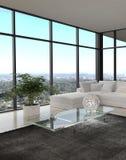 Ehrfürchtiges modernes Dachboden-Wohnzimmer | Architektur-Innenraum lizenzfreie stockfotos