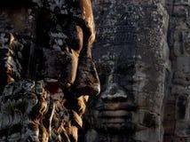 In Ehrfurcht vor Tempelruinen in Kambodscha Stockfotografie