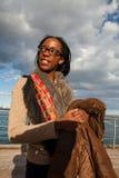 Ehrgeizige afrikanische Dame Stockfoto