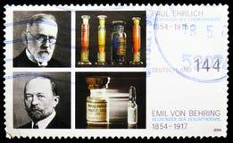 Ehrlich, Behring, 150. Geburts-Jahrestag von Nobelpreisträger serie, circa 2004 stockbild