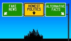 Ehrliche Politik lizenzfreie abbildung