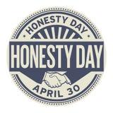 Ehrlichkeits-Tagesstempel Lizenzfreie Stockfotos