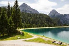 Ehrwald Alpin Lake Stock Photos