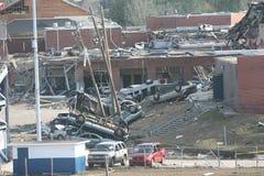 EHS dañado tornado Imagen de archivo libre de regalías