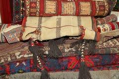 Ehtnic Carpets Texture, Amman, Jordan Royalty Free Stock Images