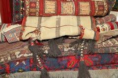 Ehtnic carpets texture, Amman, Jordan Royalty Free Stock Photography