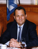 Ehud Barak. Served as Israel's Prime Minister from 1999 until 2001.  This photo was taken in the Prime Minister's private office in Jerusalem prior to a cabinet Royalty Free Stock Photography