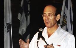 Ehud Olmert Imágenes de archivo libres de regalías