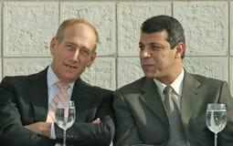 Ehud Olmert e Mohammed Dahlan Immagini Stock Libere da Diritti