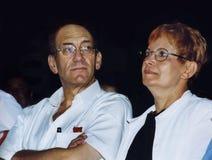 Ehud Olmert en Aliza Olmert Royalty-vrije Stock Foto