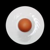 Ei auf einer Platte Stockfoto