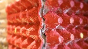 Ei-Behälter in der roten Farbe Lizenzfreies Stockfoto