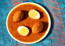 Ei-Curry Stockfoto