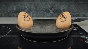 Ei in der Wanne Egg concept Lizenzfreie Stockfotos