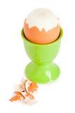 Ei in eierdopje voor een ontbijt Stock Fotografie