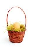 Ei in einem Korb Lizenzfreies Stockbild