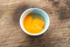 Ei in einer Schüssel Lizenzfreie Stockbilder