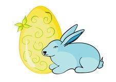 Ei en konijn Stock Afbeelding