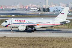 EI-ETO Rossiya Airlines, Airbus A319-112 Stock Images