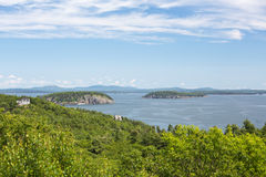Ei-Felsen übersehen im Acadia-Nationalpark Lizenzfreies Stockbild