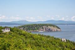 Ei-Felsen übersehen im Acadia-Nationalpark Stockfotografie