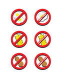 Ei-freies Gluten-freie Erdnuss geben frei Lizenzfreie Stockbilder