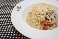 Ei-gebratener Reis Stockfoto