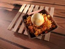Ei-gebratener Reis stockbild