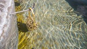 Ei im Korb werden in heiße Quellen am sankamphaeng gekocht Lizenzfreie Stockfotos