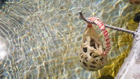 Ei im Korb werden in heiße Quellen am sankamphaeng gekocht Stockfoto