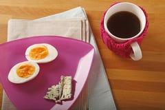 Ei, kaas en thee royalty-vrije stock afbeeldingen