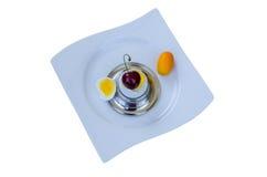 Ei mit Überraschung Stockbild