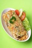 Ei-Omelett Stockfoto