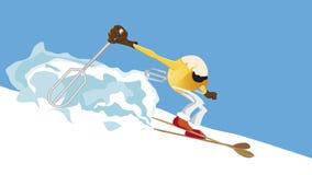 Ei op sneeuw vector illustratie