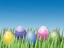 Ei und Gras Stockfotos