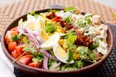 Ei- und Tomatensalat Stockfotografie
